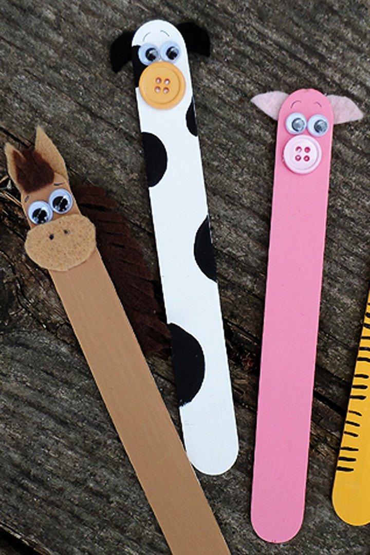 manualidades para niños marcapáginas