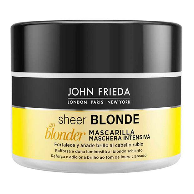 Mascarilla intensiva aclarante Sheer Blonde Jonh Frieda