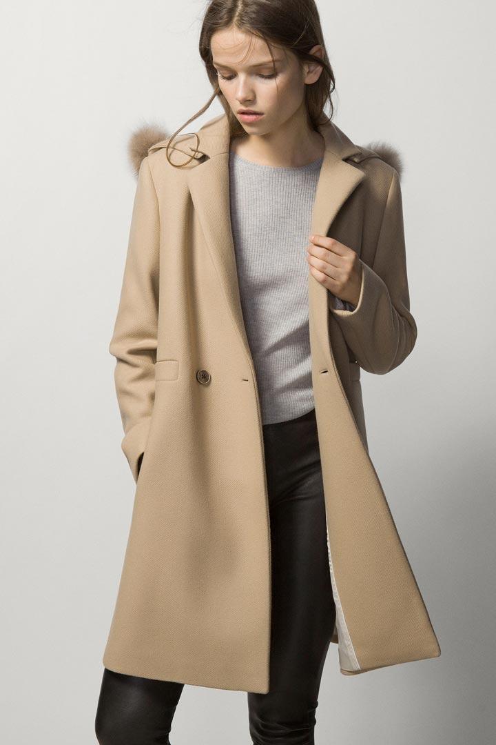 Abrigo corto mujer massimo dutti