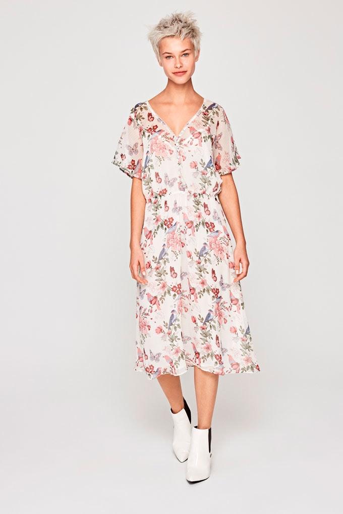 Vestido de verano versátil con estampado de flores