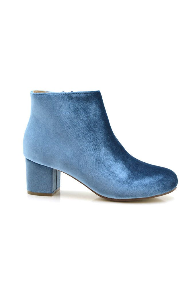 Botines de terciopelo azul