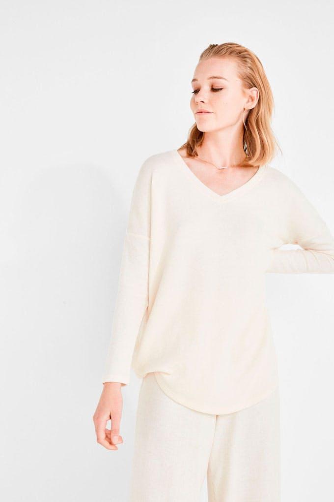 Camiseta de manga larga beige