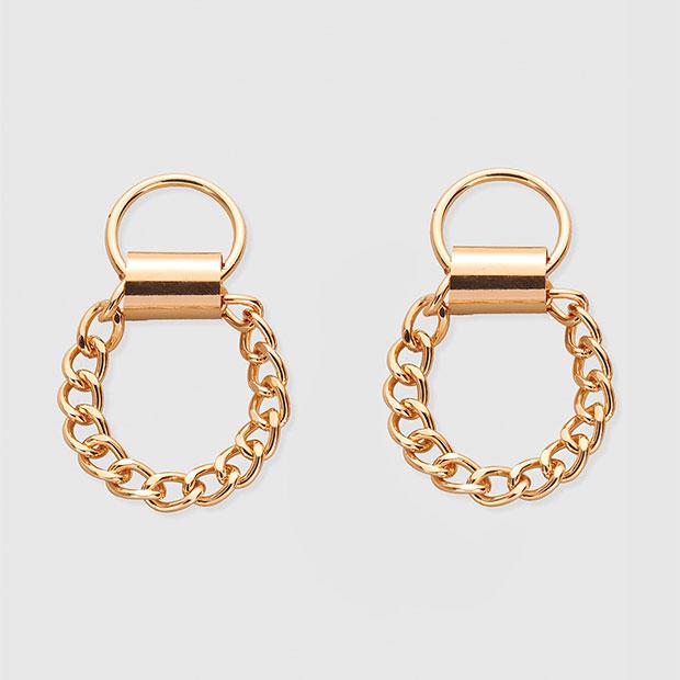 Maxi pendientes con cadenas