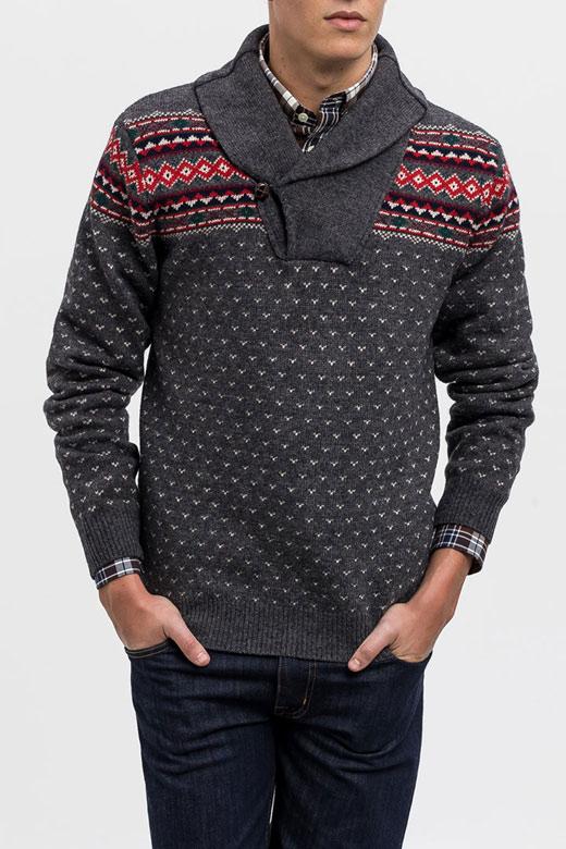 Jersey de estampado invernal de Gant