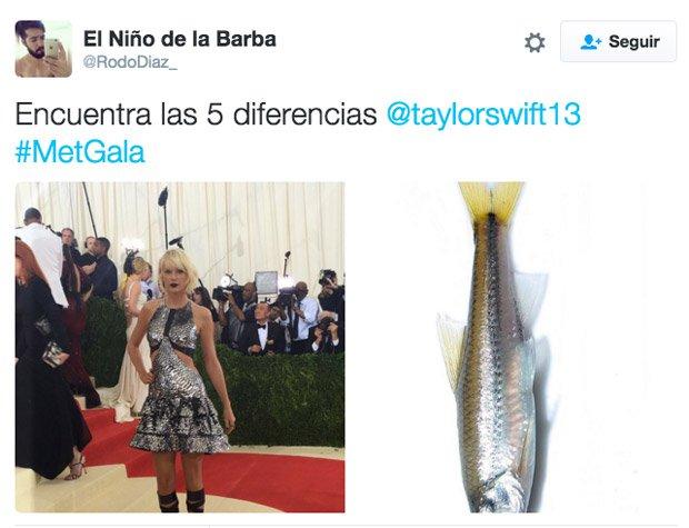 Taylor Swift la comparan con un pez. Pero esto no ha sido lo único...