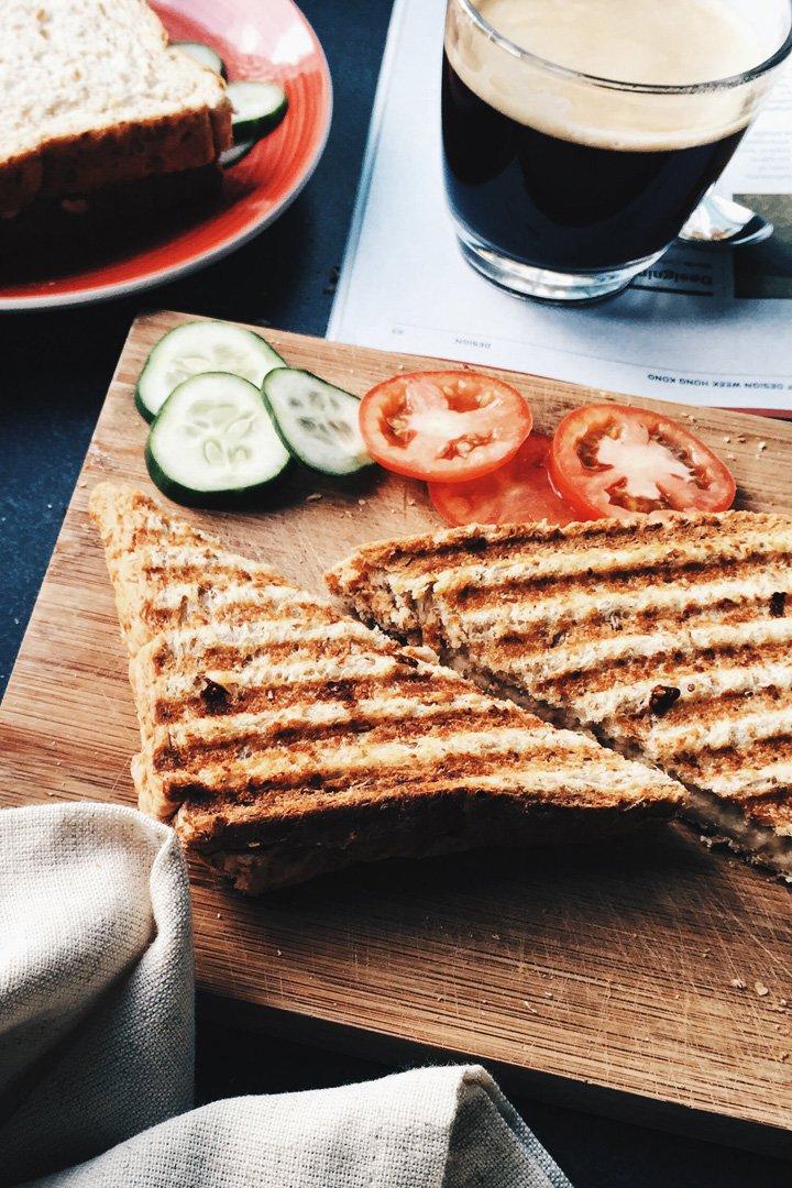 meriendas para niños sandwiches vegetales