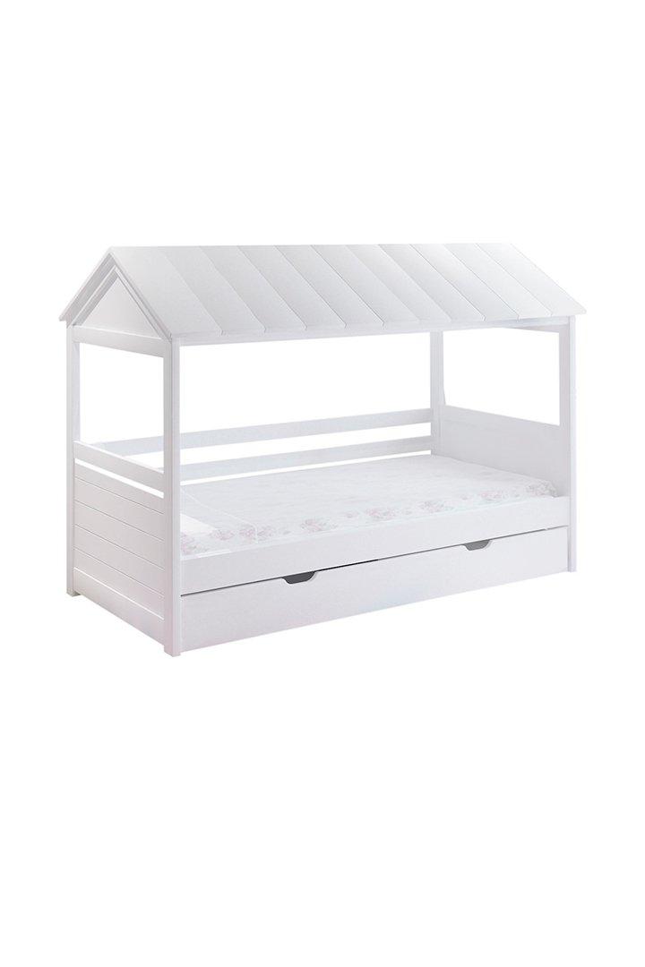 Cama con forma de casita de mini home