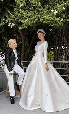 Así fue el impresionante vestido de novia de Miranda Kerr