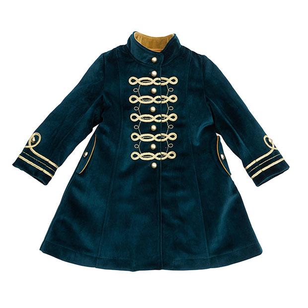 Ropa de niños otoño 2018: abrigo terciopelo