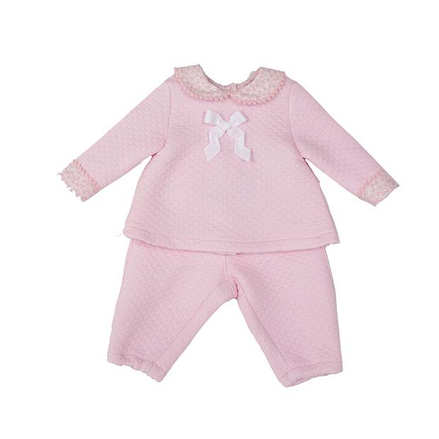 Ropa de niños otoño 2018: conjunto de bebé rosa