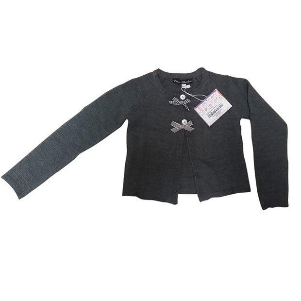 Ropa de niños otoño 2018: chaqueta de punto gris