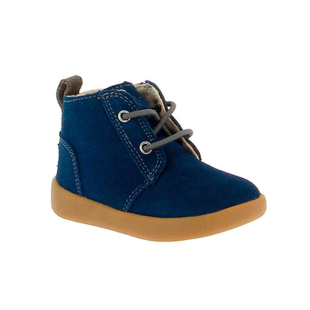 Ropa de niños otoño 2018: botas de ante azul