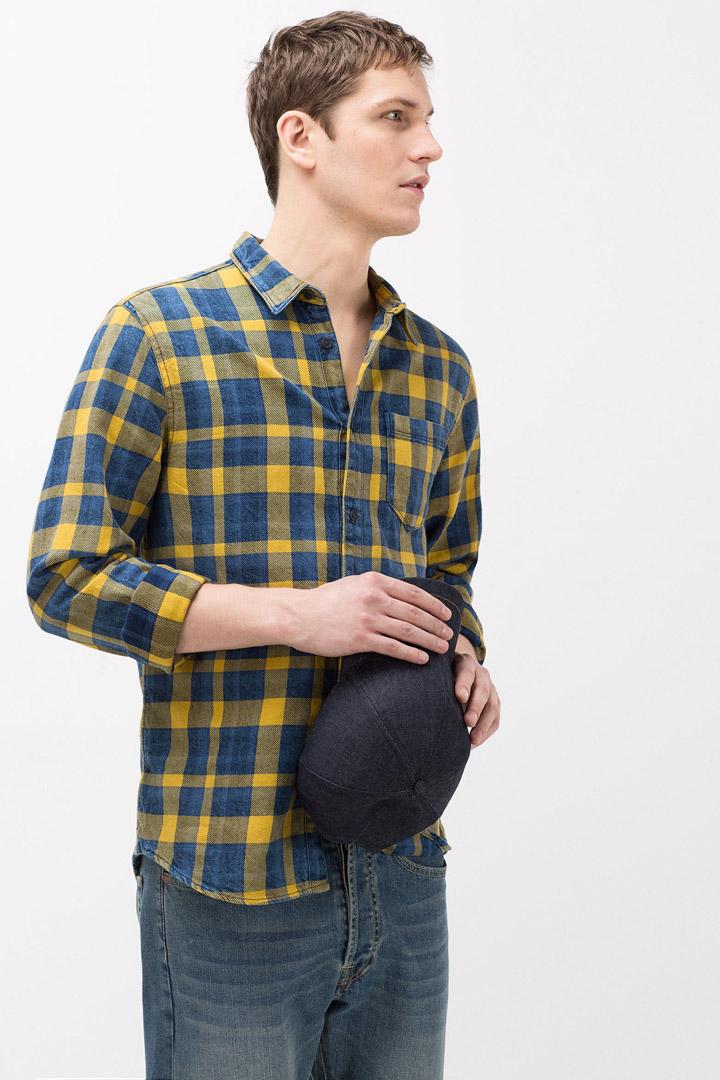 Camisa de cuadros de zara man