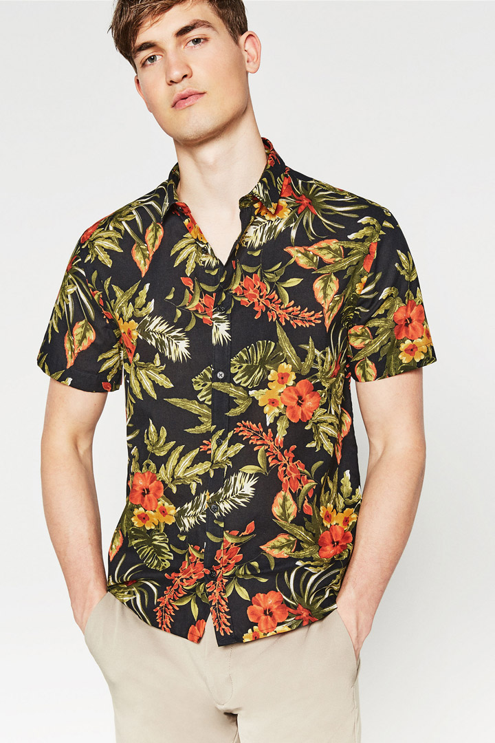Camisa de flores de Zara