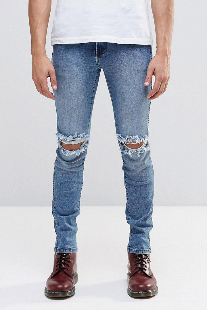 Skinny ripped jeans de asos