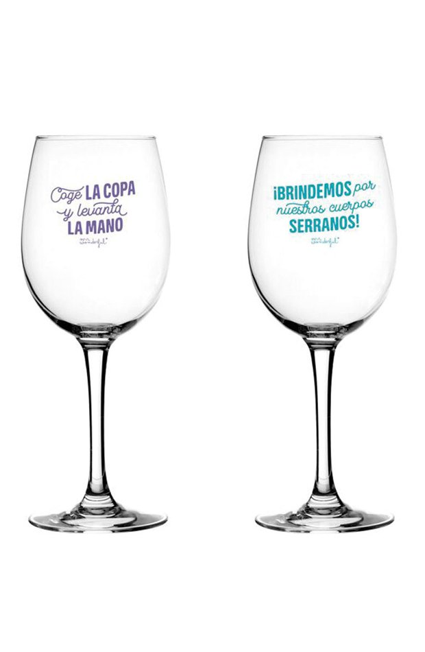 Set de 2 Copas de Vino de Mr. Wonderful: regalos san valentín 2019