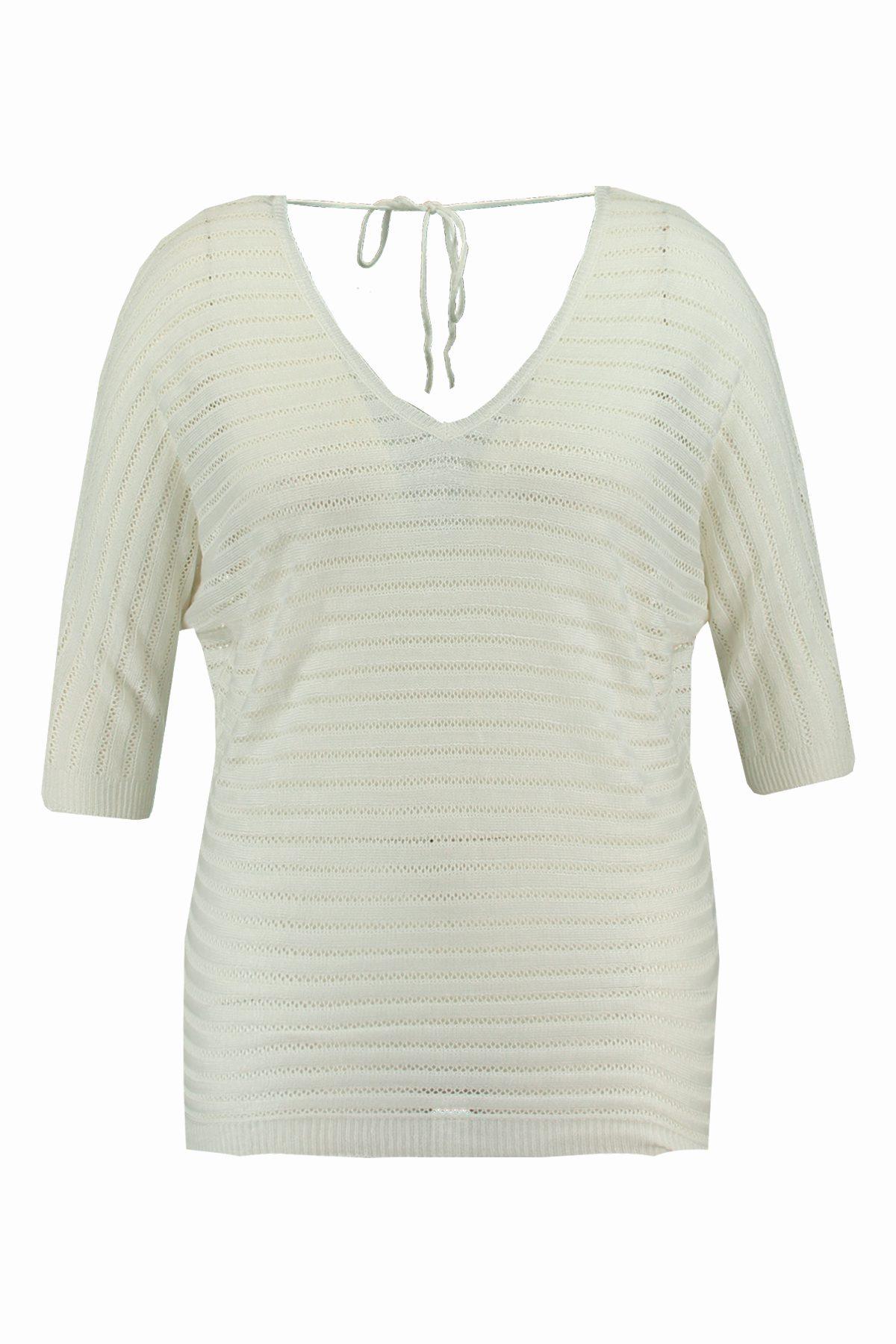 Jersey de punto blanco de la colección FSTVL de Ms Moda