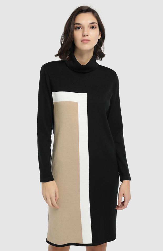 Vestido de punto con cuello alto de Naulover: prenda invierno vestidos