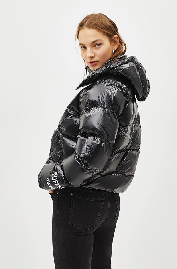 Puffy coat negro