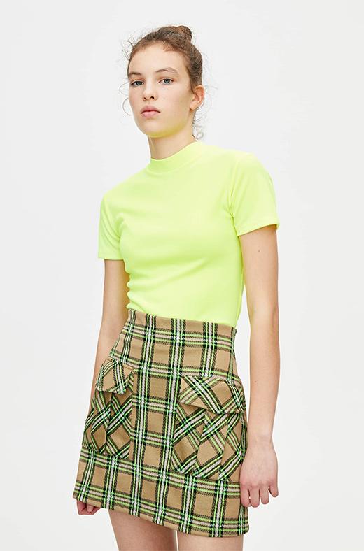 Camiseta flúor de Pull&Bear