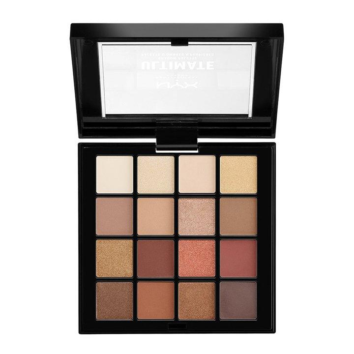 Paleta Ultimate Shadow Warm Neutrals de NYX: productos tendencias beauty 2019