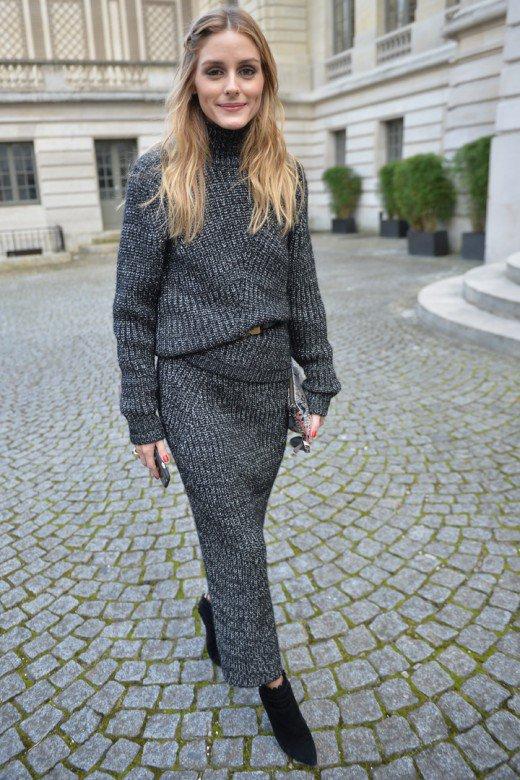 Olivia Palermo con un total look de punto