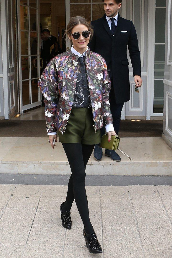 Olivia Palermo con bomber