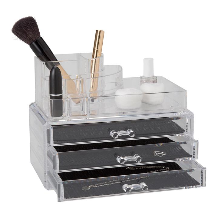 Organizador de cosméticos con 3 cajones de El Corte Inglés: piezas cumplir propósitos