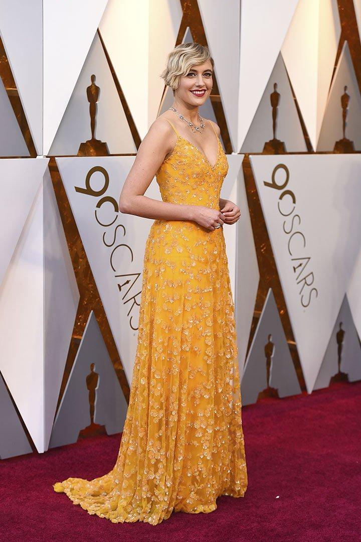 Greta Gerwig en los Premios Oscar 2018