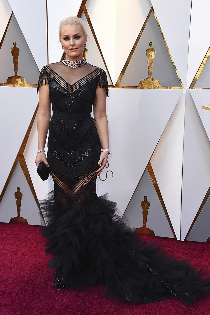 Lindsey Vonn en la alfombra roja de los Oscar 2018