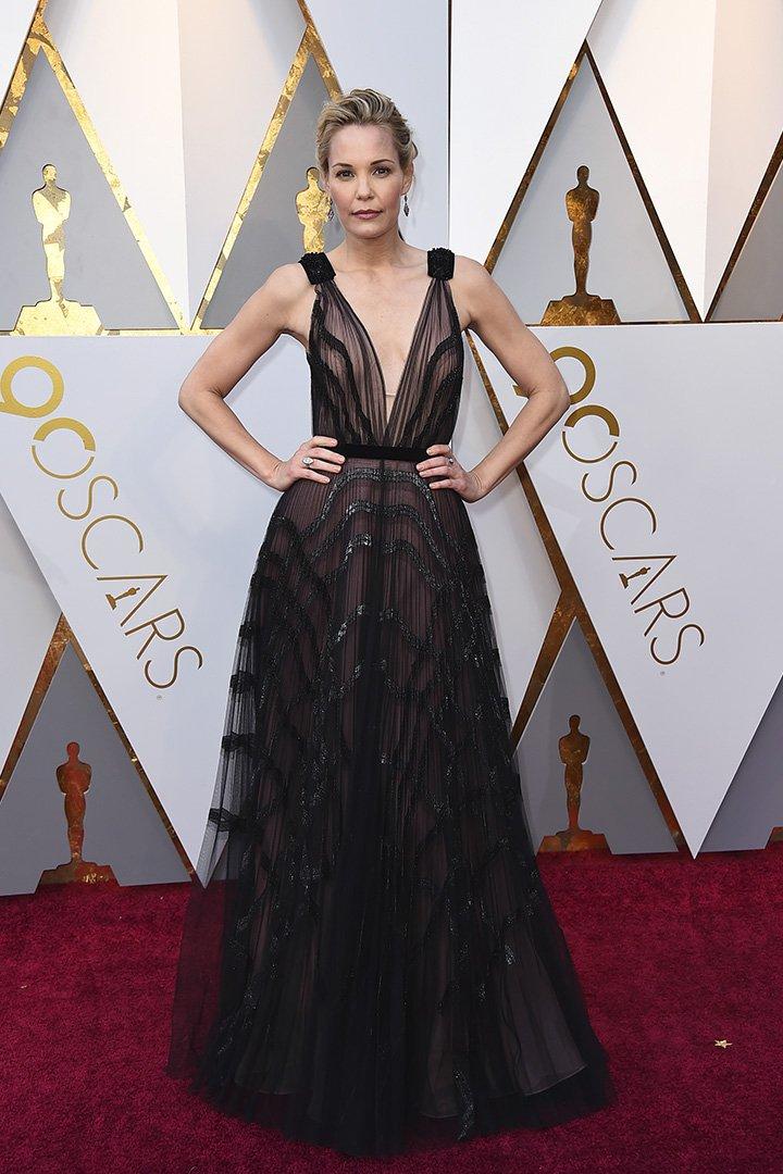 Leslie Bibb en los Premios Oscar 2018