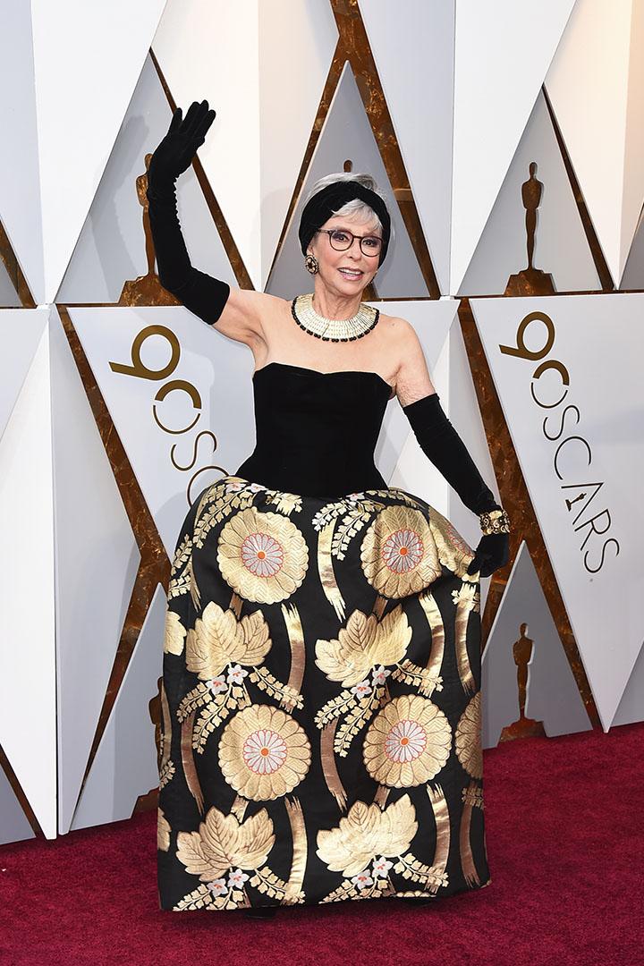 Rita Moreno en los Premios Oscar 2018