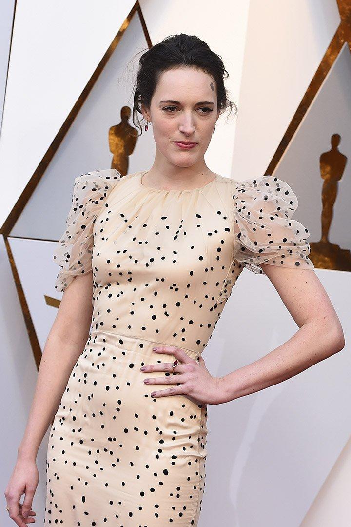 Phoebe Waller-Bridge en los Premios Oscar 2018