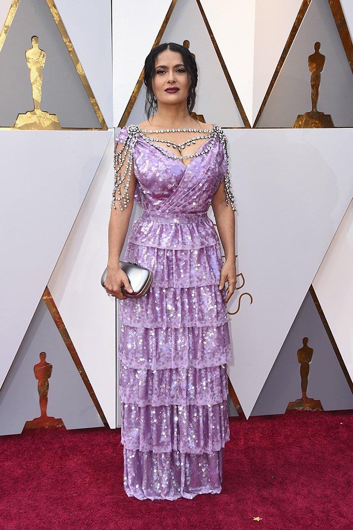 Salma Hayek en los Premios Oscar 2018
