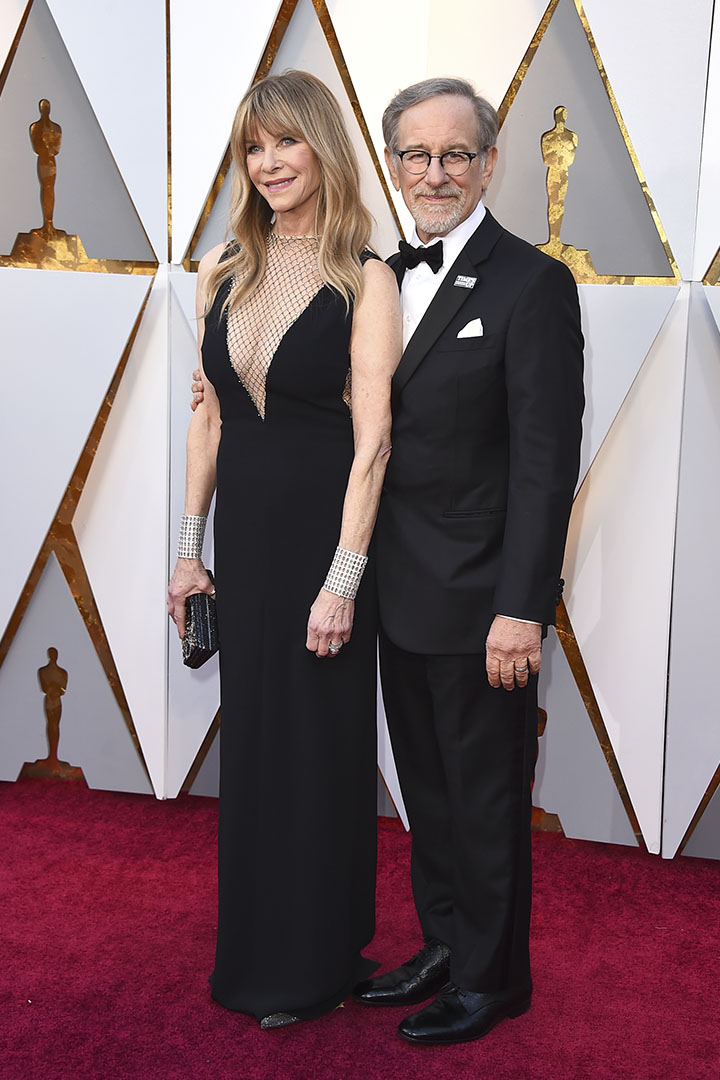 Kate Capshaw y Steven Spielberg en los Premios Oscar 2018
