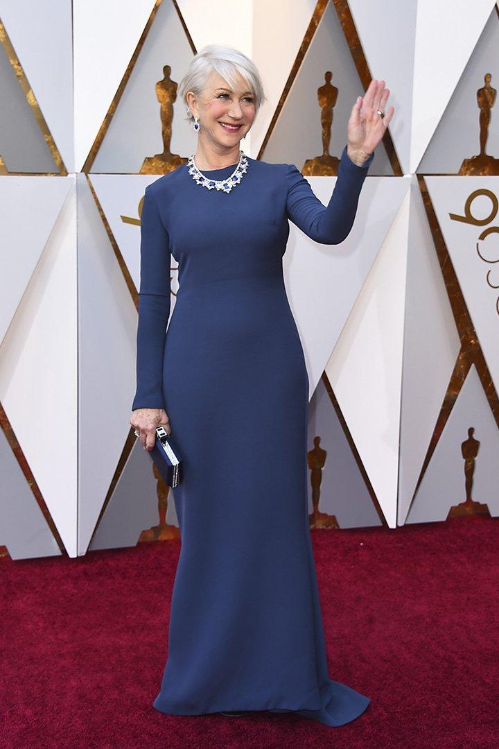 Helen Mirren en los Premios Oscar 2018