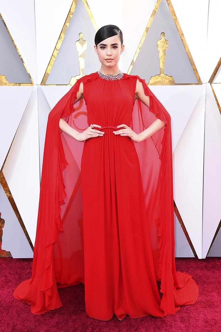 Sofia Carson en los Premios Oscar 2018