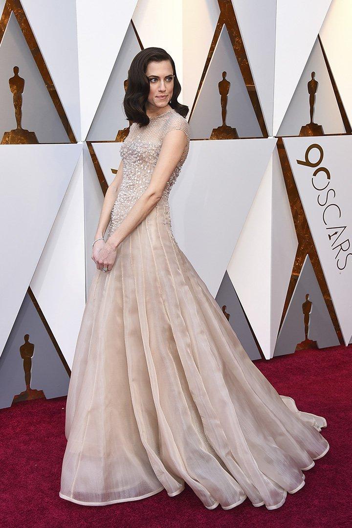 Allison Williams en los Premios Oscar 2018