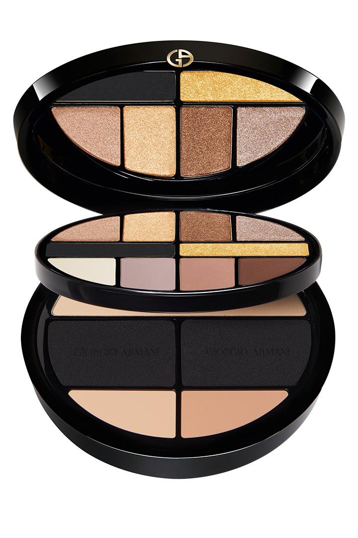 Paleta de sombras de ojos de Giorgio Armani maquillaje de navidad