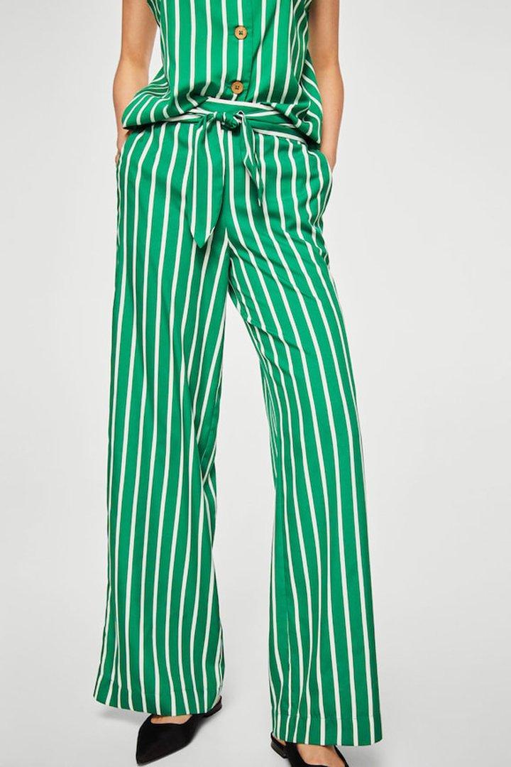 pantalón estampado lazo mango ropa