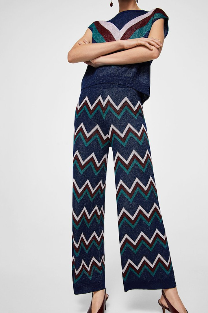 pantalón punto rayas mango ropa