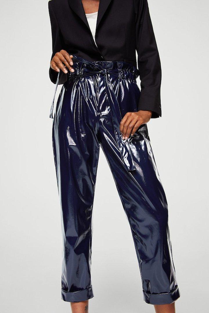 pantalón vinilo mango ropa