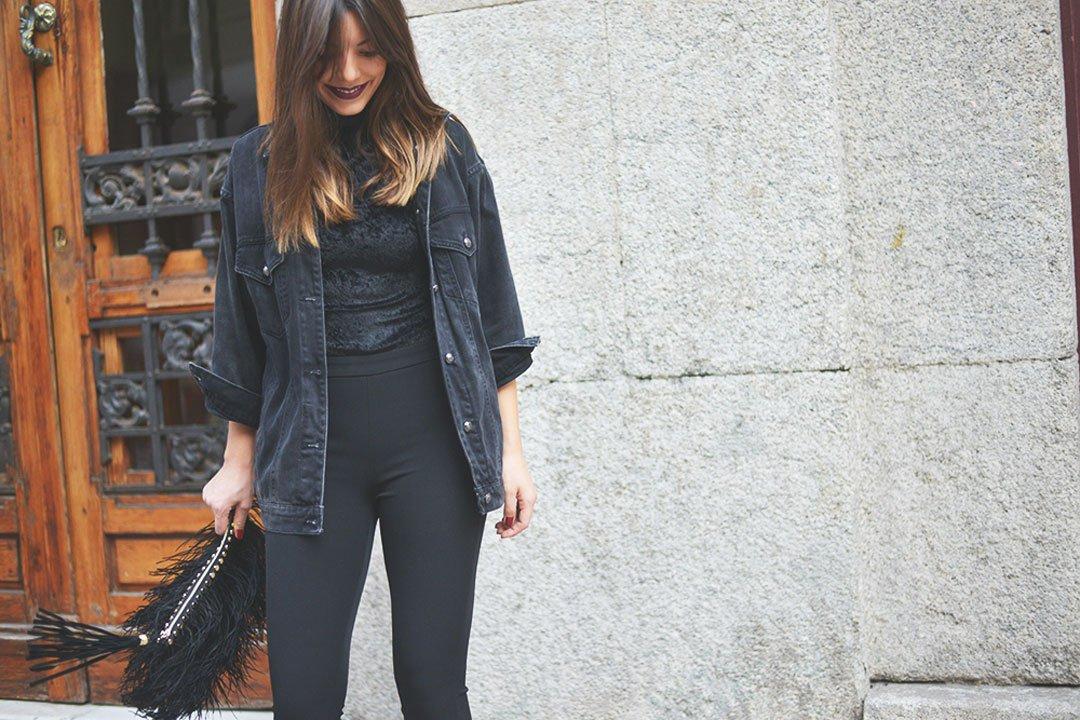pantalon negro de el corte inglés