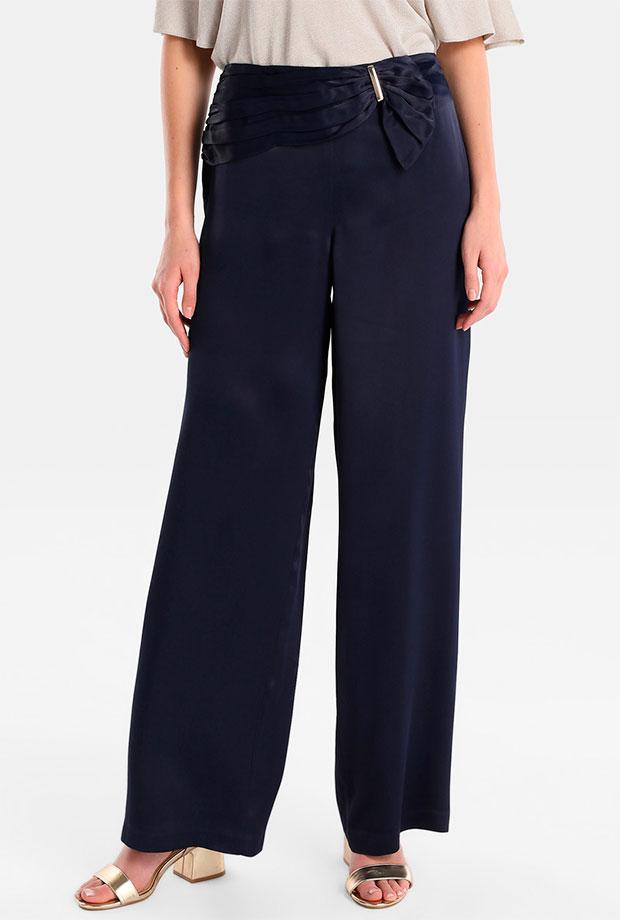 Pantalones para invitadas de boda azules marino