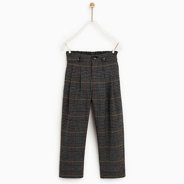 Pantalón de cuadros de Zara Kids invierno 2018