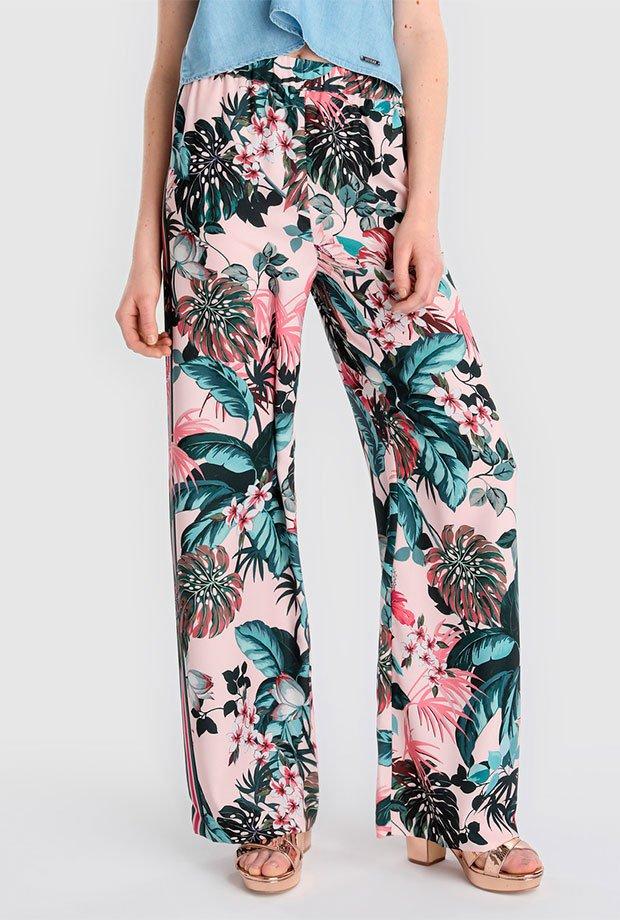 Pantalones para invitadas de boda de flores