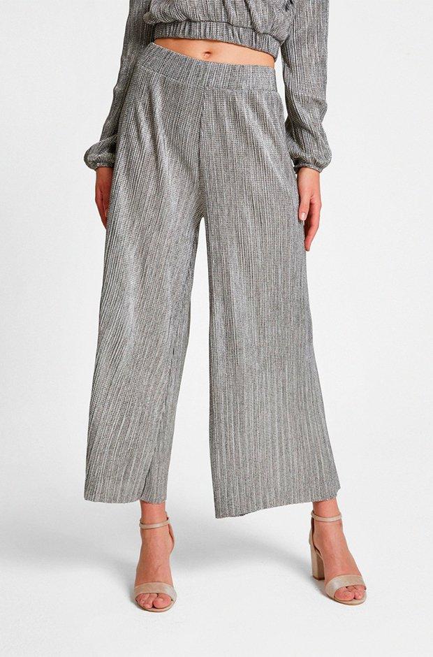 Pantalones de fiesta en color plata