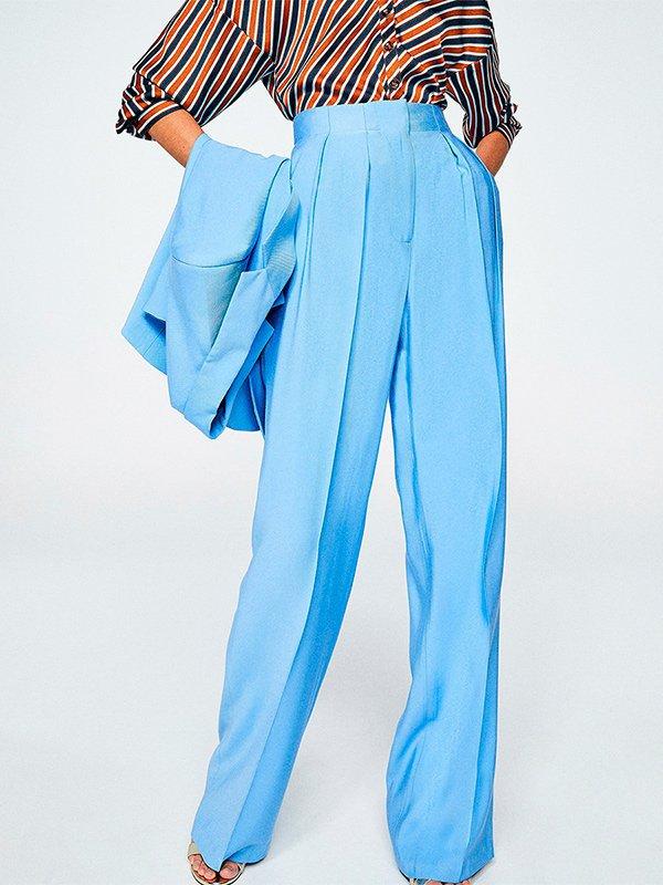 Pantalón ancho azul celeste de Sfera