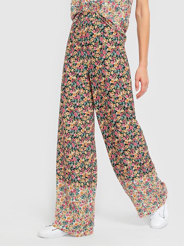 Pantalones palazzo de flores