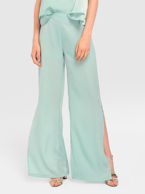 Pantalones palazzo verde menta